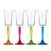 Gurasu Crystal Fluorescence Crystal Champagne Flutes, set of 4