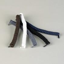 Schoenveters - wit / bruin / zwart - spiraalvormig