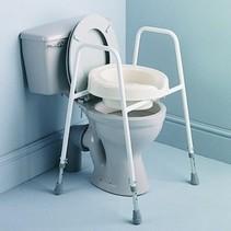 Toiletoverzetframe inclusief pot en armleuningen