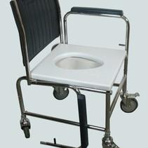 Toiletstoel verstelbaar - armsteunen neerklappen