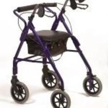 Lichtgewicht rollator walker - verstelbaar - blauw