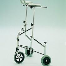 Rollator Delta met tas -  verstelbaar 89-113 cm - onderarmschalen - duwrem / mandje en dienbland