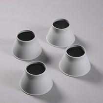 Stoelverhoger - Olifantpoot - 9 cm/14 cm - 4 stuks