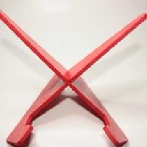 Leesstandaard, eenvoudig model - rood / zwart