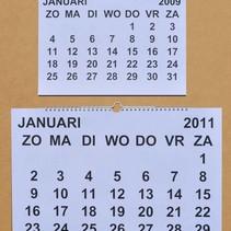 Grootletter maand-kalender - A4 / A3