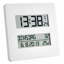 Radiografische klok met temperatuurweergave -19,5 x 19,5 x 2,7 cm