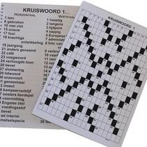 Kruiswoordpuzzel 3 * - grootletter uitvoering