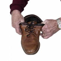 Elastische schoenveters - 61 cm - wit / bruin / zwart