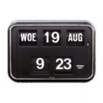 NM Kalenderklok QD-35 -  ZWART / WIT
