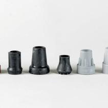 Krukdop zwart rubber - intensief gebruik  - 13 / 16 / 19 / 22 / 25 mm