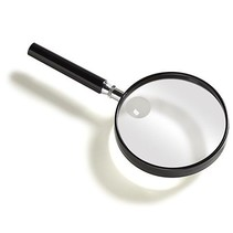 Vergrootglas rond - 7,5 / 9 cm - 2x