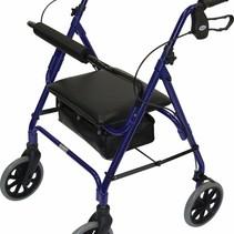 Lichtgewicht rollator safety walker - verstelbaar - blauw /  bordeaux