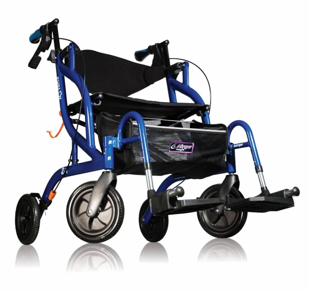 Afbeelding van Airgo Fusion inklapbare rollator & transportrolstoel in één