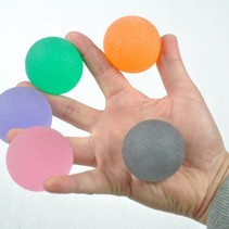 Hand trainer gelballen -  verschillend weerstandsvermogen