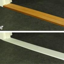 Indoor Drempelvervanger - Aluminium /brons- 95 x 11 / 95 x 14