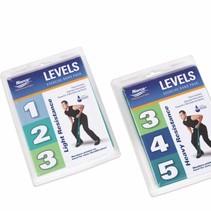 Gymnastiekband blister - zwaar / licht - met drie verschillende levels.
