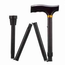 Opvouwbare wandelstok - zwart -  verstelbaar - 3 maten