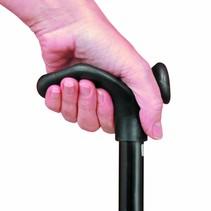Opvouwbare wandelstok - comfortgrip - verstelbaar - rechts / links - zwart / blue Ice