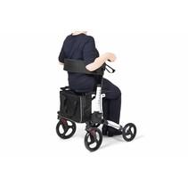 Rollator met rugsteun - opbergtas - boodschappentas - wandelstokhouder