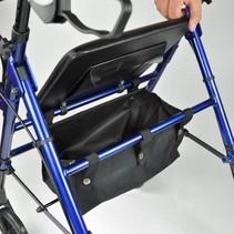 Lichtgewicht rollator- tas onder de zitting - metallic blauw