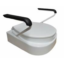 Toiletverhoger compleet -  verstelbaar 8 - 10 - 13cm