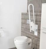 Opklapbare toiletbeugel met wc rol houder