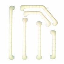Wandbeugel Prima - wit - recht / gehoekt - verschillende afmetingen
