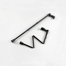 Wandelstok - opvouwbaar - zwart - verstelbaar