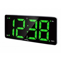 Wekkerradio groen display