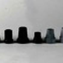 Krukdop zwart - 13 mm
