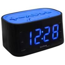 Wekkerradio blauw display met voelbare knoppen