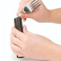 Lepel / Vork / mes schommel - verdikte handgreep - zwart - buigbaar
