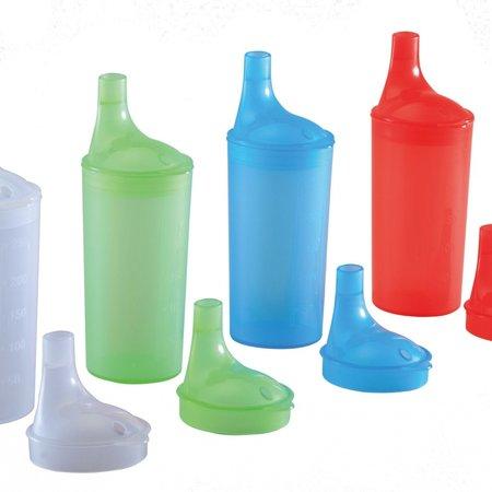 Able2 Drinkbekerset met lange tuitdeksels- verschillende kleuren