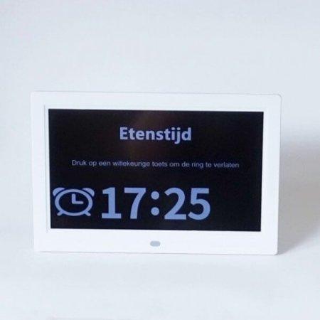 slechtziend Digitale dagklok 25 cm diagonaal met afstandbediening