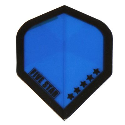 Bull's Five Star - Blue Black outline