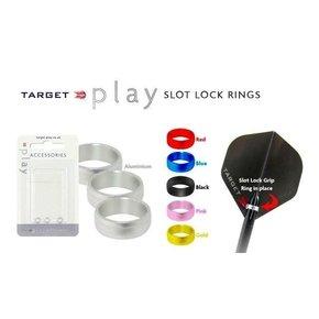 Target Slot Lock Ring Silver