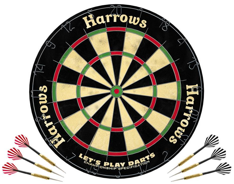 Harrows Let's Play Dartset