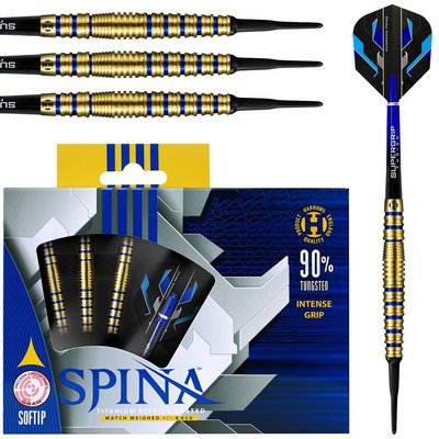 Harrows Spina Gold & Blue 90% Soft Tip