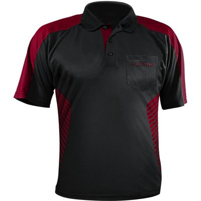 Harrows Vivid Dartshirt Black & Deep Red