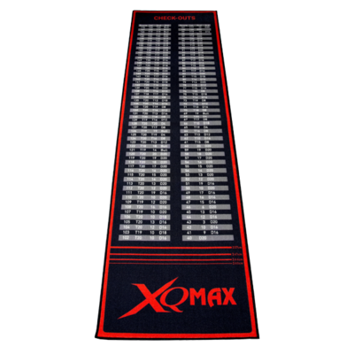 XQMax Check Out Dartmat Red/Black