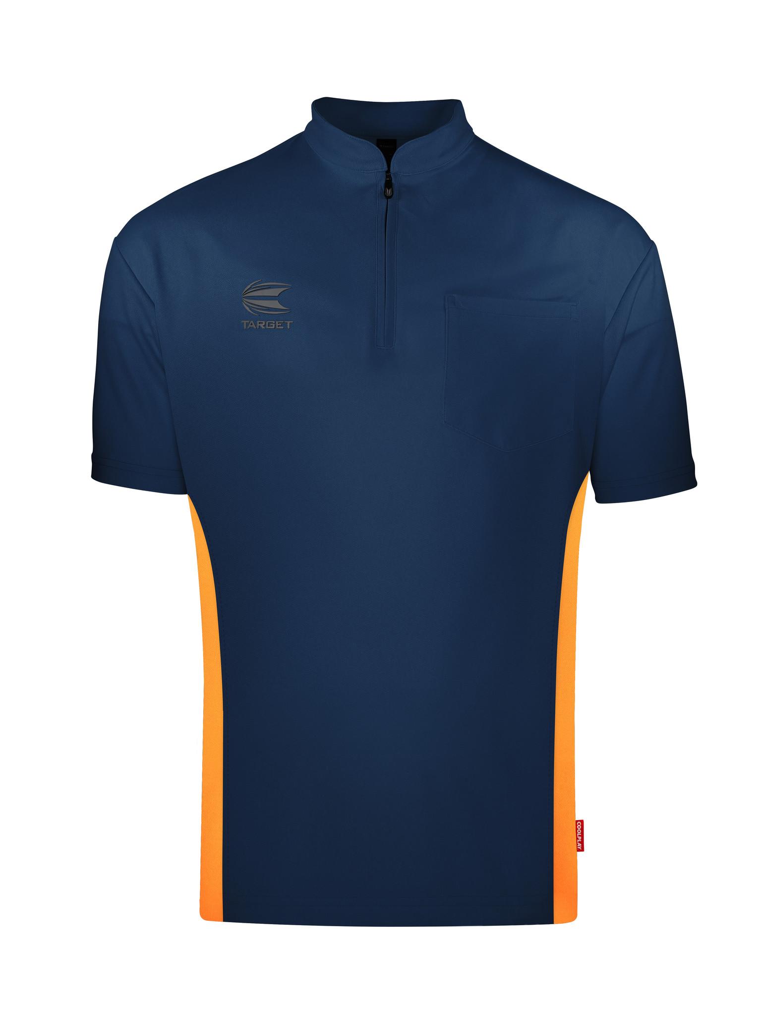 SALE: 39% - Target Coolplay Collarless Shirt Vinyl Dark Blue/Orange