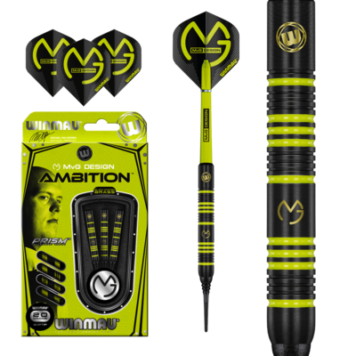Michael van Gerwen Ambition Black Coated Brass Soft Tip