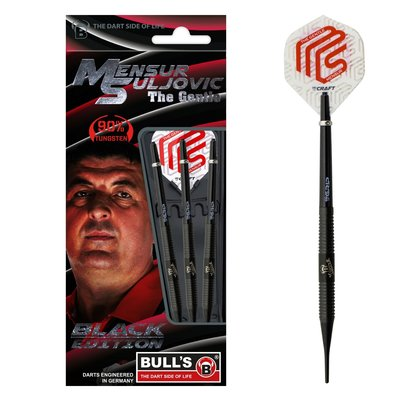 Bull's Mensur Suljovic 90% Black Edition  Soft Tip