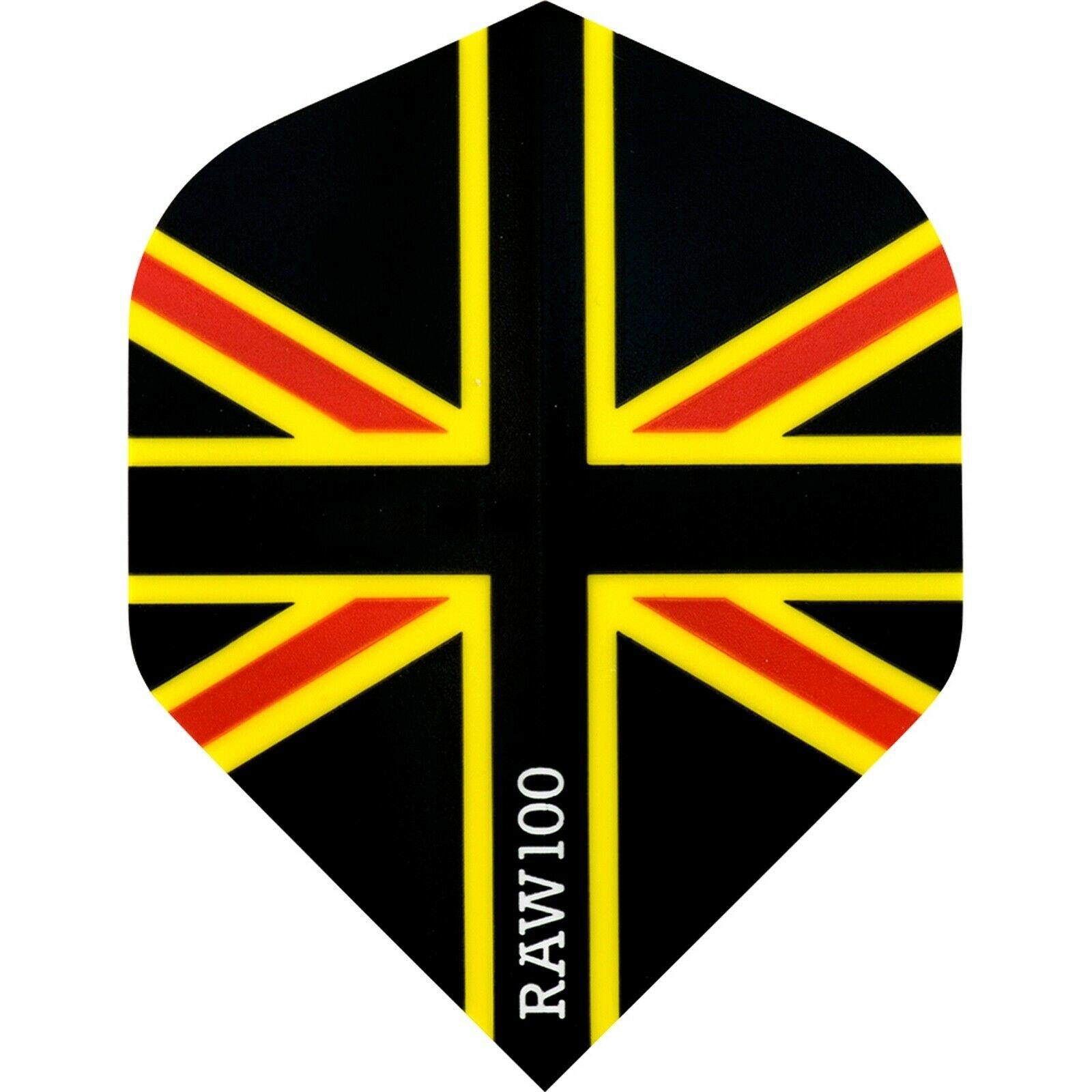RAW 100 Union Jack Flight Black Red & Yellow