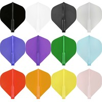 Cosmo Darts Cosmo Darts - Fit Flight Clear Black Standard