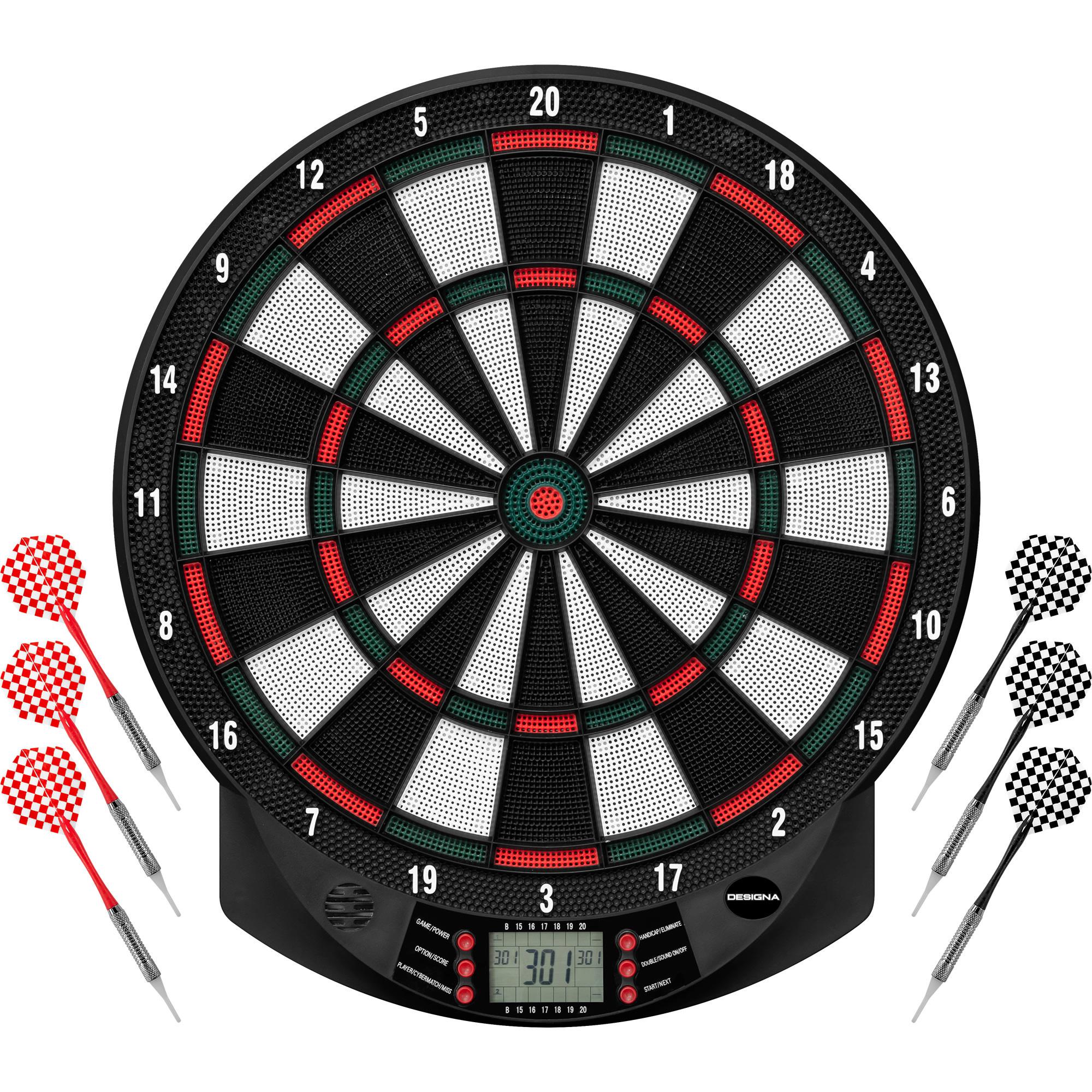 Dartshopper Elektronisch Dartbord + 2 Sets Darts