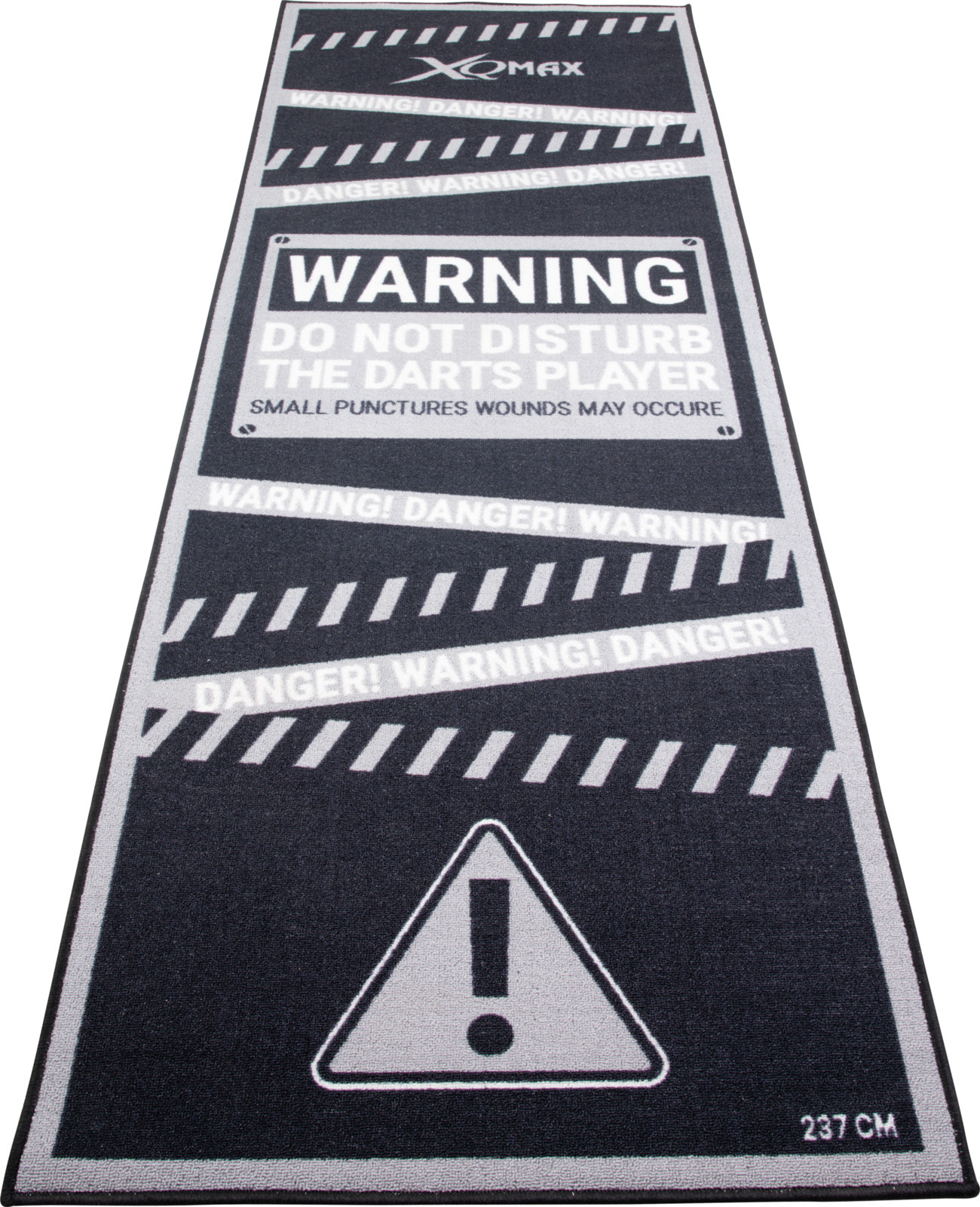 XQ Max Carpet Dartmat Warning