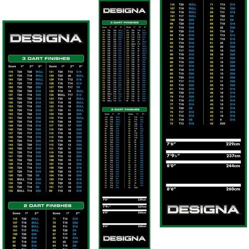 Designa Designa Carpet Dart Mat - Non Slip Back - 290cm x 60cm