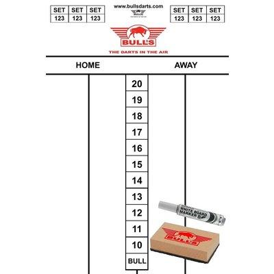 Bull's Scorebord Set 45 x 30