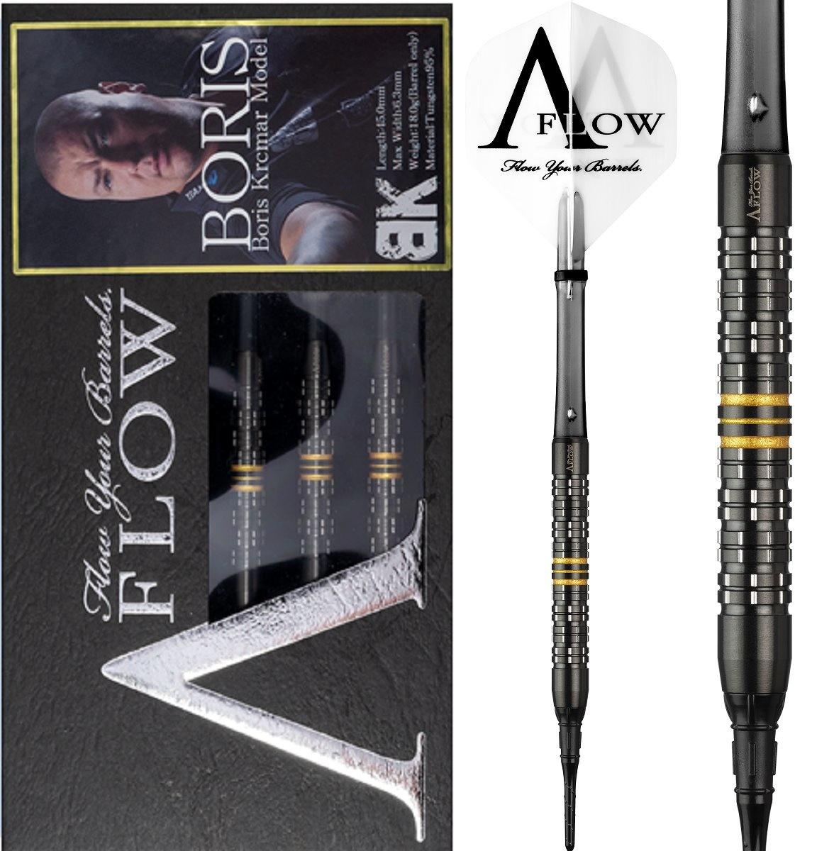 Dynasty A-FLOW Black Line Boris Krcmar Yellow 95% Soft Tip